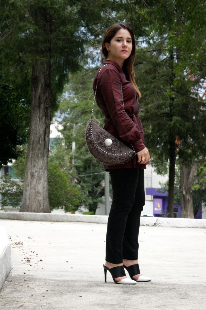 BURGUNDY SHIRTDRESS-ATUENDO29