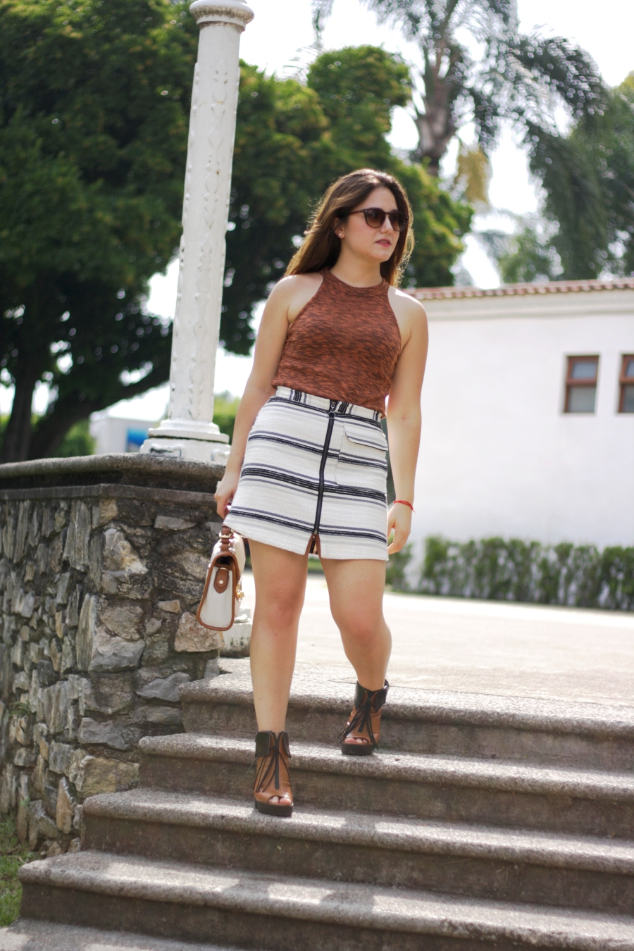 FRONT-BUTTON SKIRT-ATUENDO29